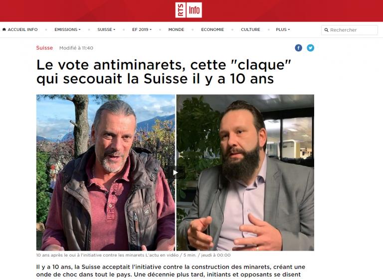 """Le vote antiminarets, cette """"claque"""" qui secouait la Suisse il y a 10 ans"""